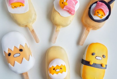 Gudetama Cake Pops by The Baking Experiment