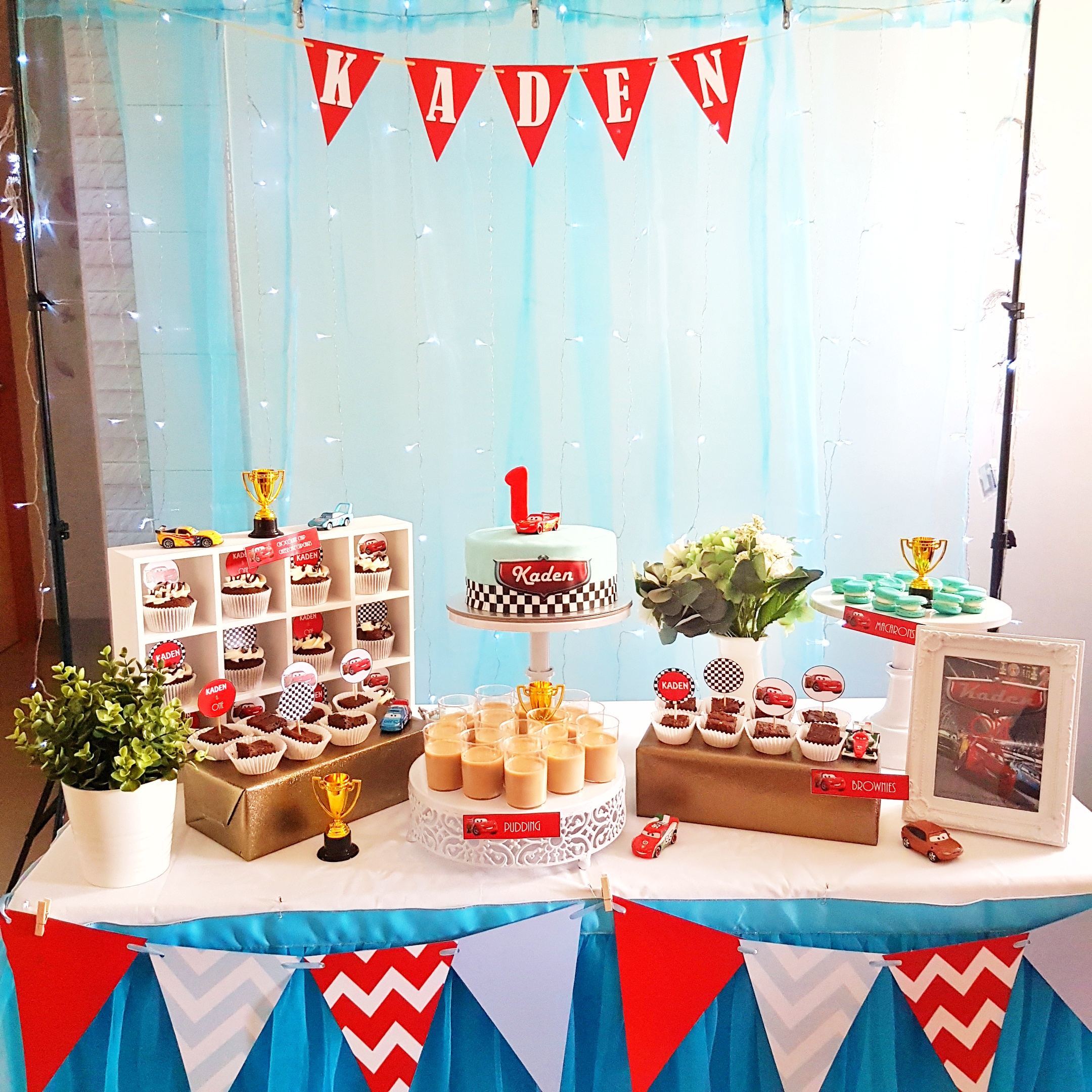 Race Car Theme Dessert Table by The Baking Experiment