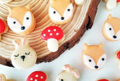 Woodlands Theme Macarons by The Baking Experiment