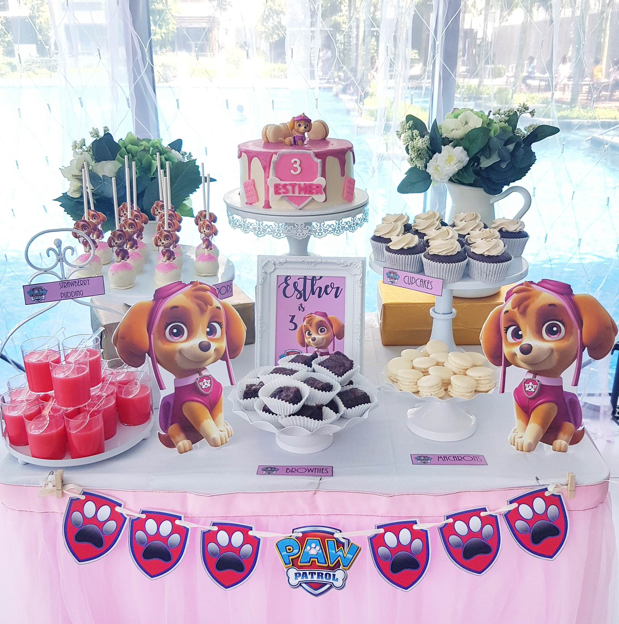 Paw Patrol Skye Dessert Table by The Baking Experiment