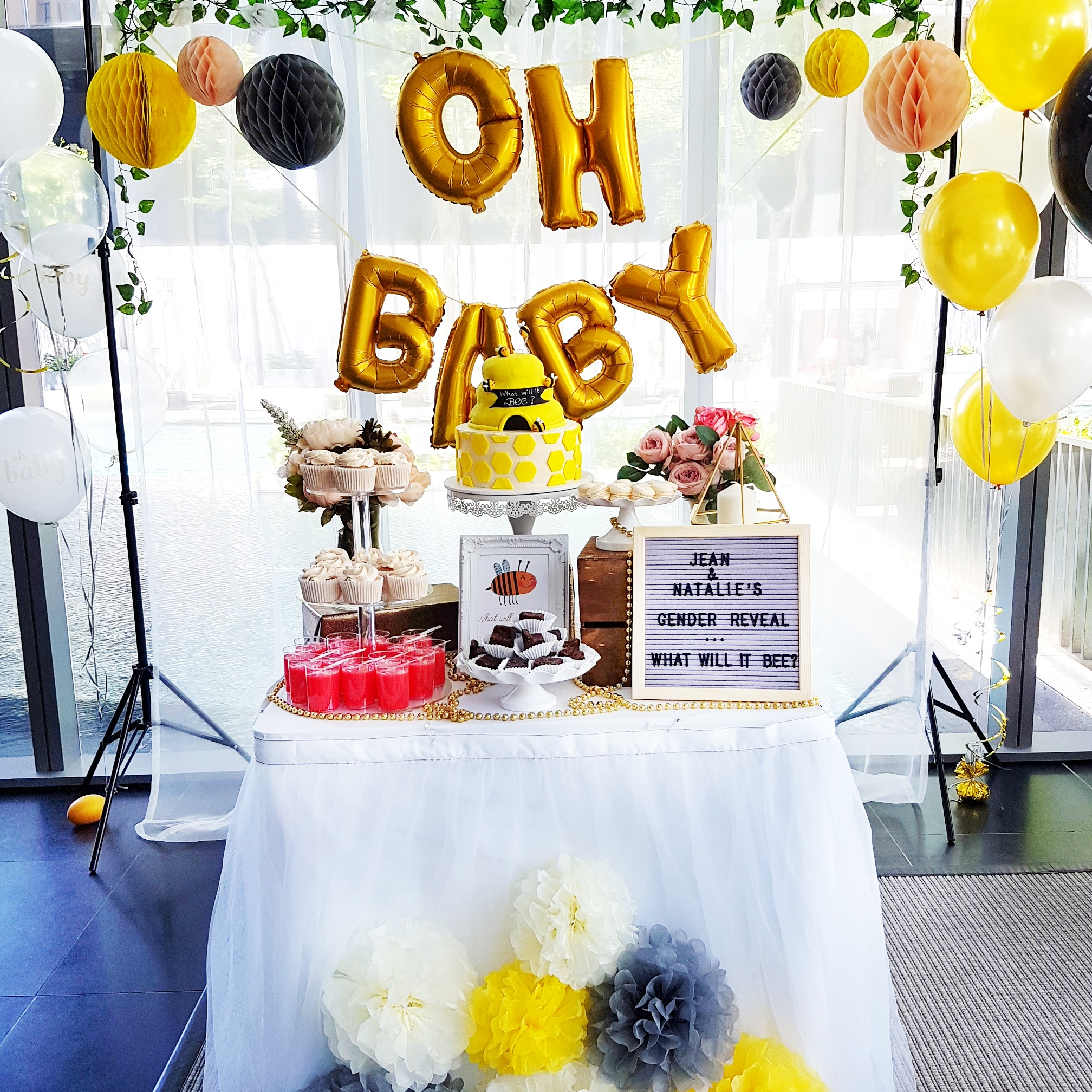 Gender Reveal Dessert Table by The Baking Experiment