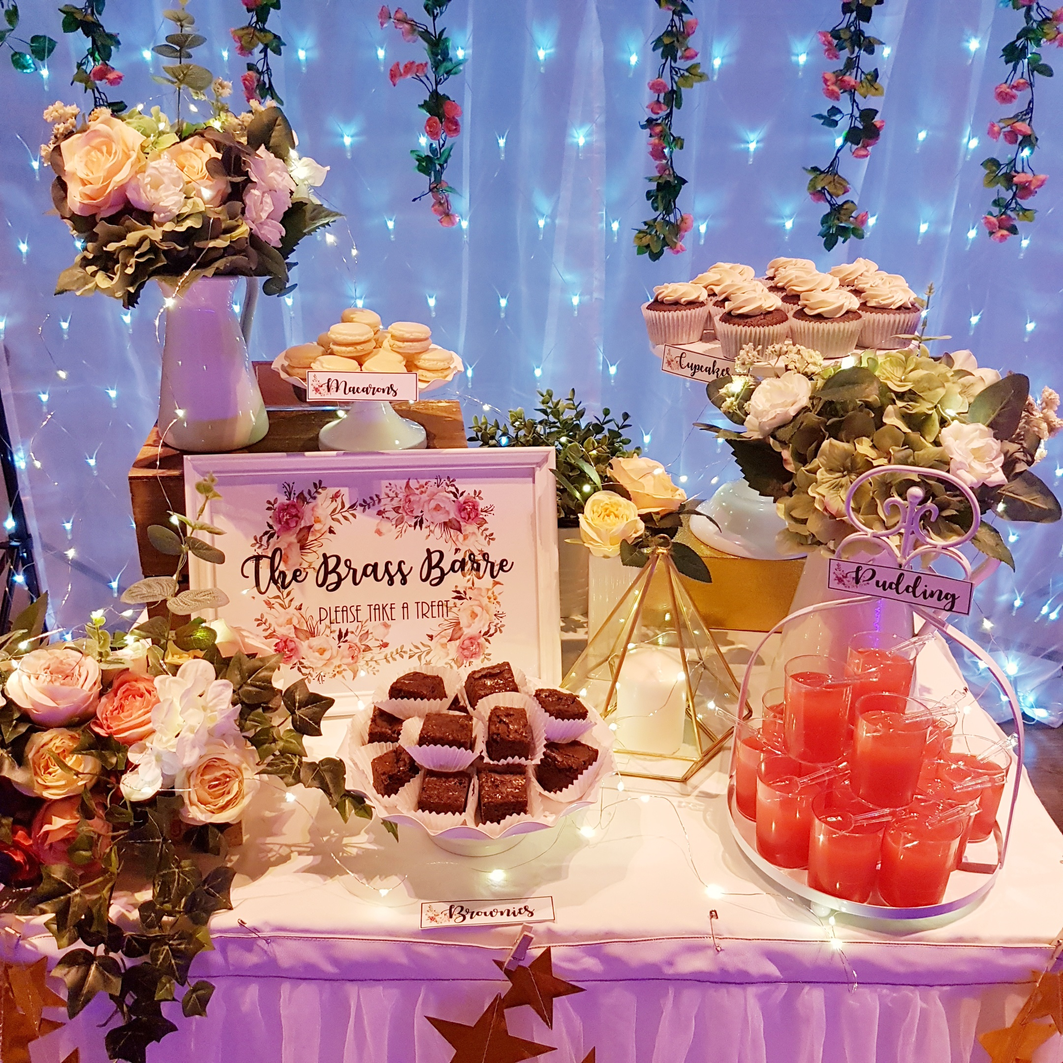 Petite Floral Dessert Table by The Baking Experiment