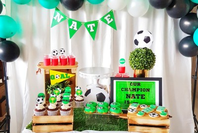 Soccer Dessert Table by The Baking Experiment