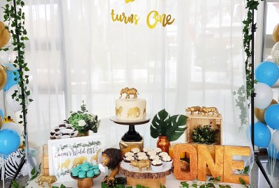 Golden Safari Dessert Table by The Baking Experiment