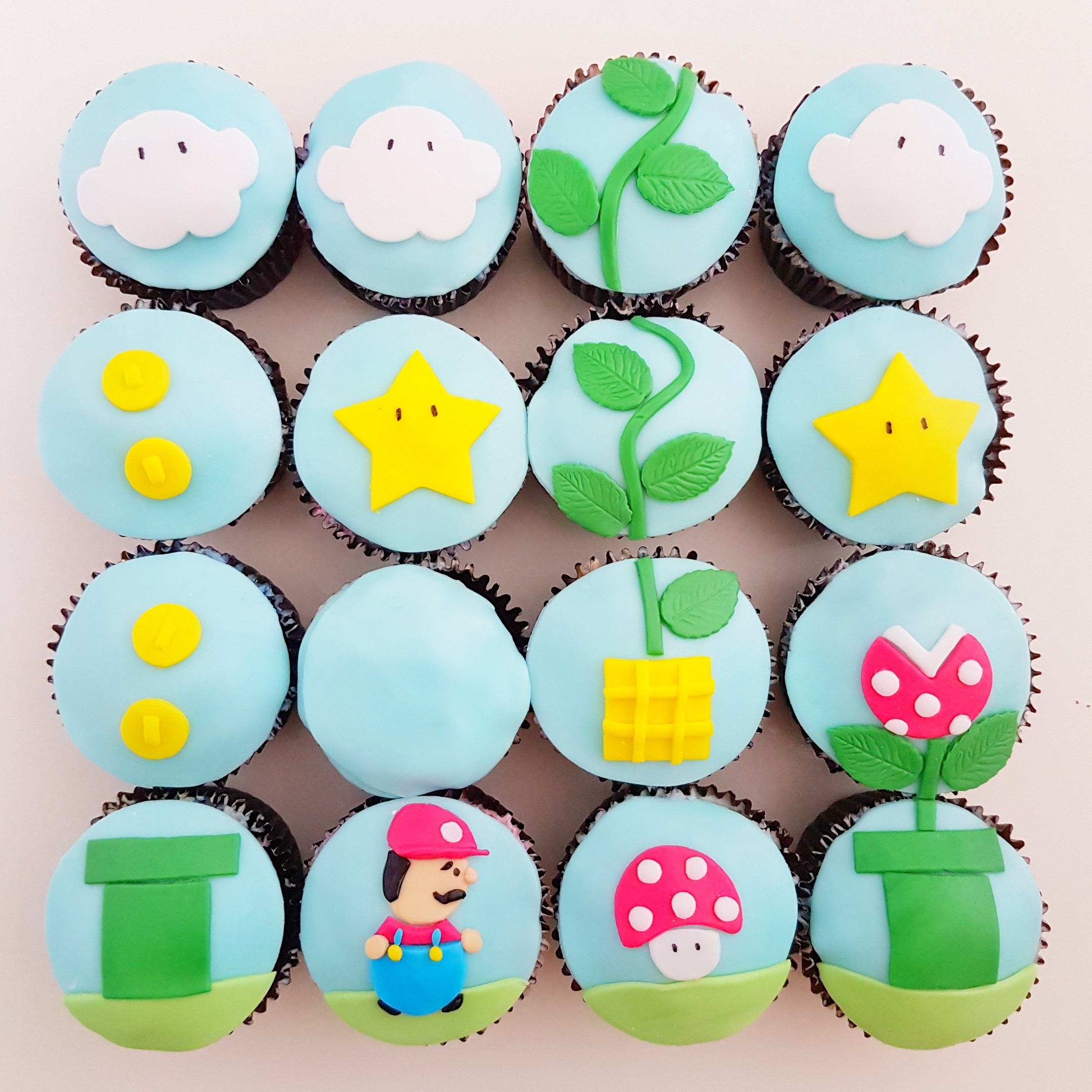 Mario Cupcakes by The Baking Experiment
