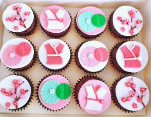 Japanese Design Cupcakes by The Baking Experiment
