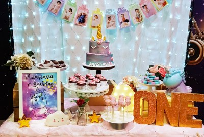 Galaxy Unicorn Dessert Table