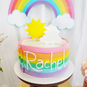 Rainbow Dessert Table by The Baking Experiment