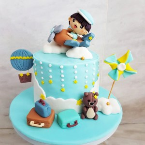 Airplane Travel Theme Cake by The Baking Experiment