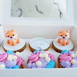 Shiba cupcakes by The Baking Experiment