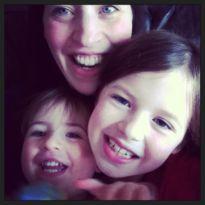 A working Mum with her children