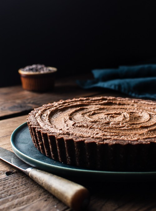 4 Step Vegan Chocolate Mousse Tart with Butternut