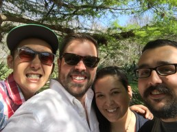 At the botanical gardens with my friend Angeline and Daniel.