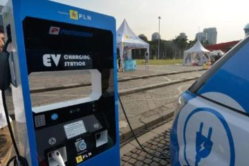 Electric Car Charging Station Added to toll road in Bali