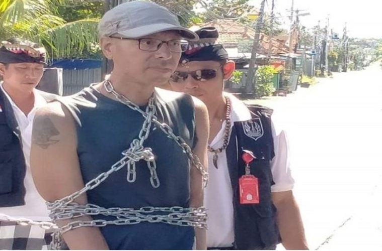 American Tourist Chained Up For Jogging On Bali's Day of Silence