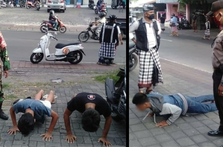 Not Wearing A Mask In Bali Will Get You Sentenced To Push-Ups