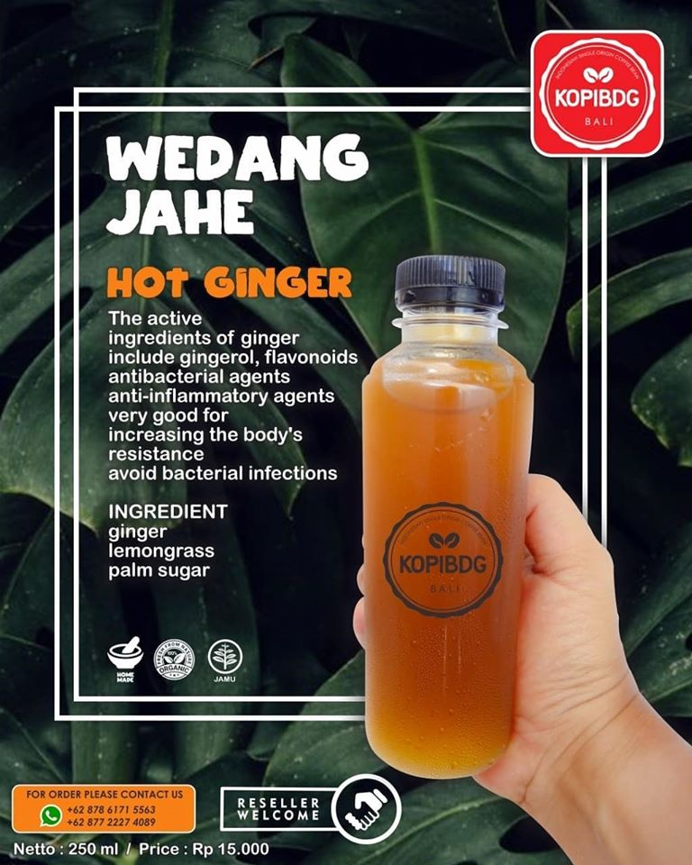 Kopi BDG delivering fresh juice to houses