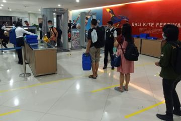 airport line up tourists
