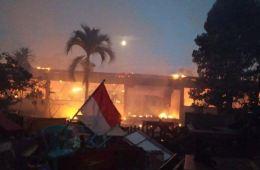 Bali Elementary School Destroyed By Massive Fire