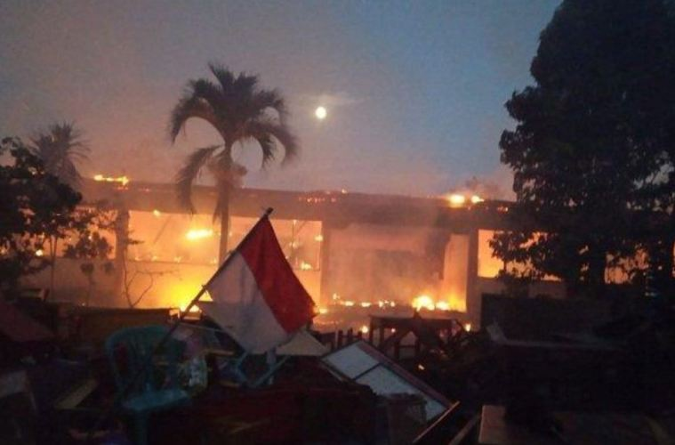 Bali Elementary School Destroyed By Massive Fire