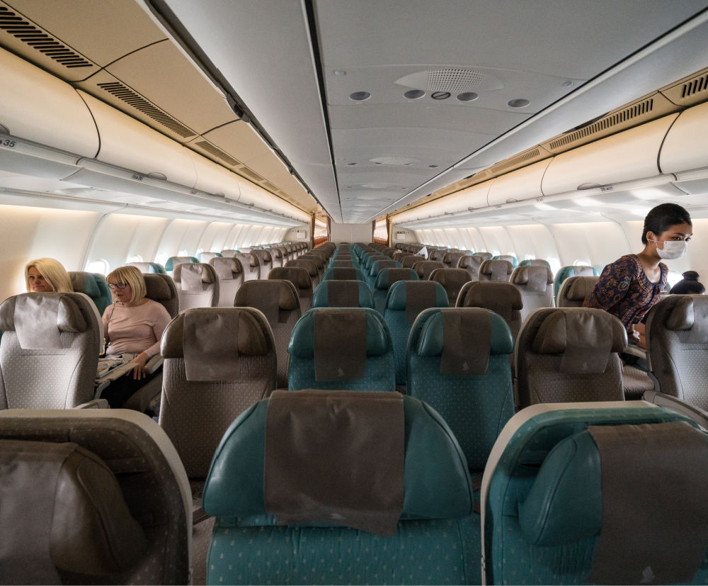 Empty plane from bali during covid-19