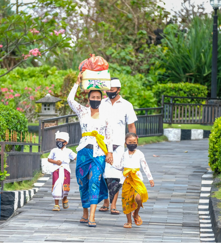 Bali Family Wearing masks