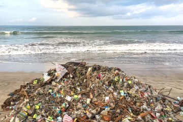 280 Tons Of Coastal Waste Collected In One Day From Bali Beaches