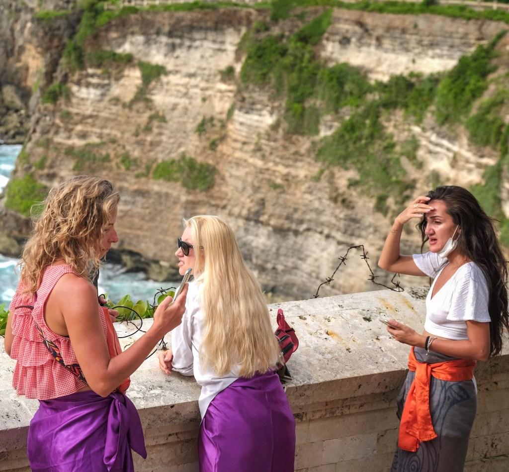 International tourists in Bali