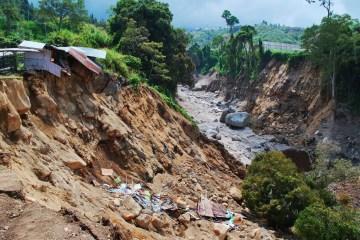 Massive Landslide Blocks Entry Into Villages In Bali