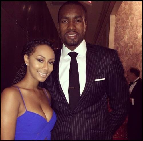 keri hilson and serge ibaka hit up the 11th annual red