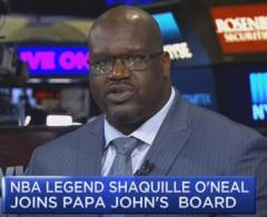 Shaquille O'Neal Speaks On Why He Joined Papa John's Board Of Directors After Founder's Racist Controversy. (Video)