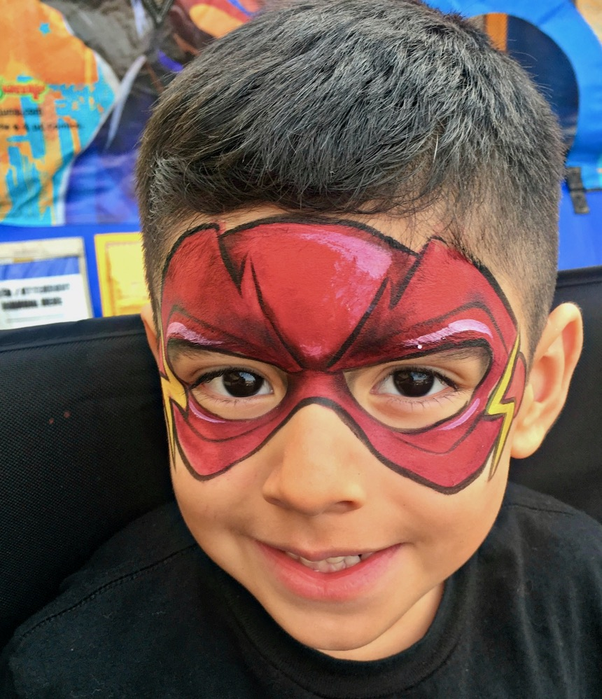 Super Hero Face Paint by TheBalloonGuyLA.com