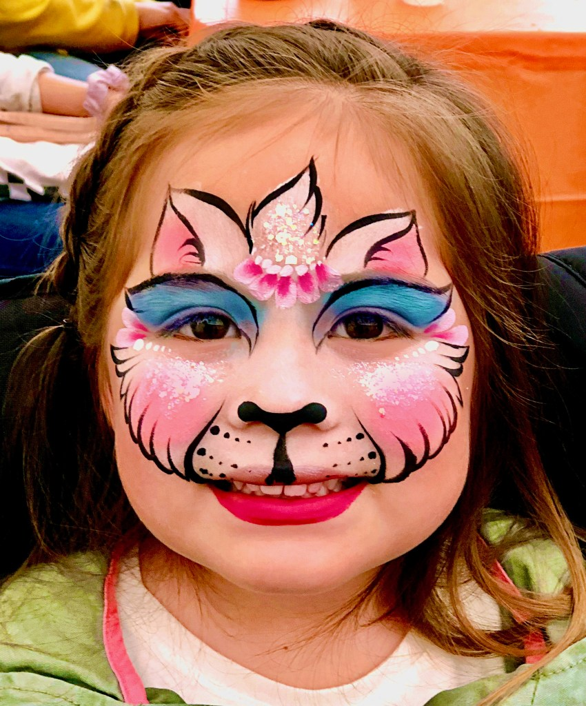Unikitty Face Paint by TheBalloonGuyLA.com