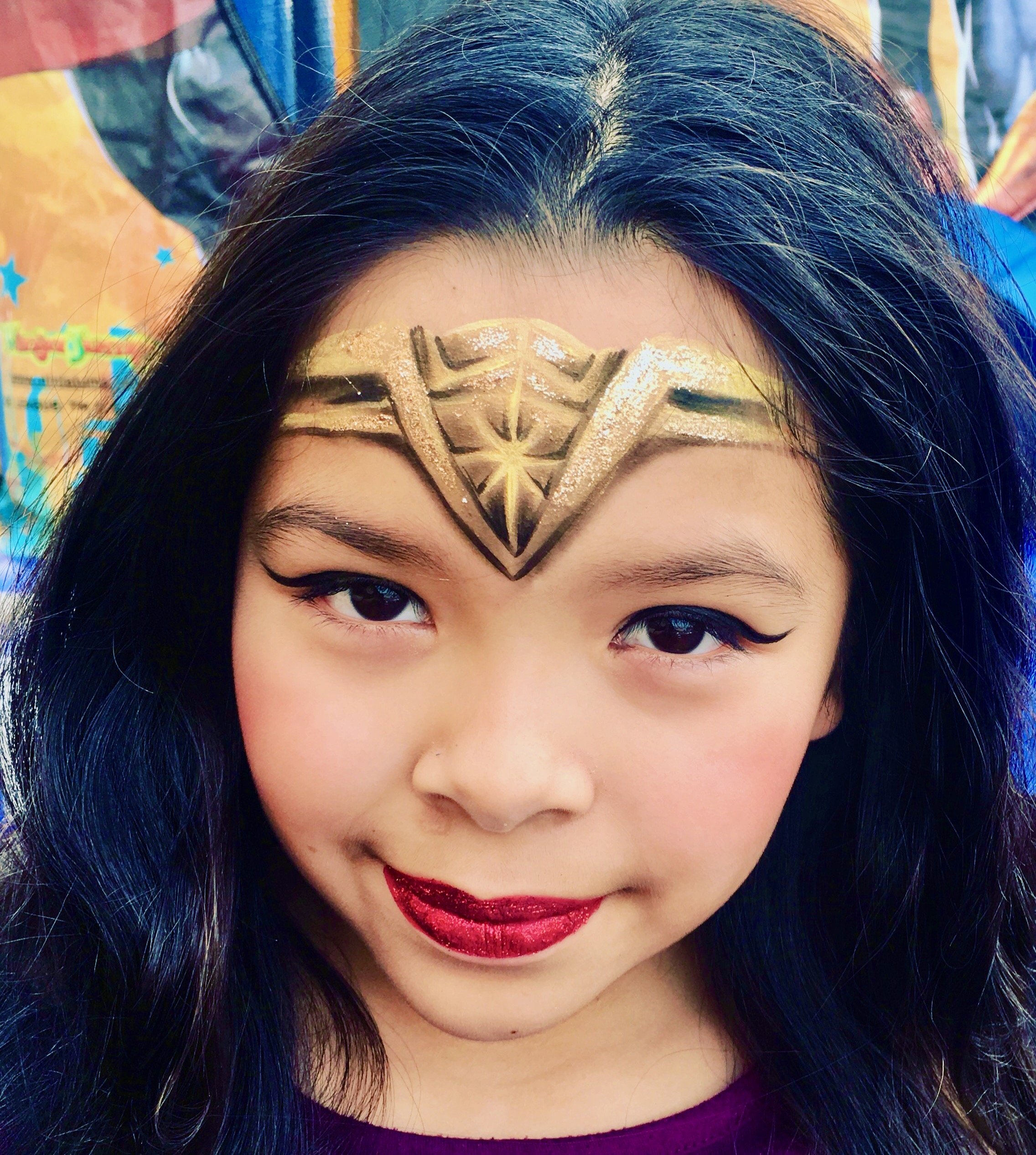 Wonder Woman Face Paint by TheBalloonGuyLA.com