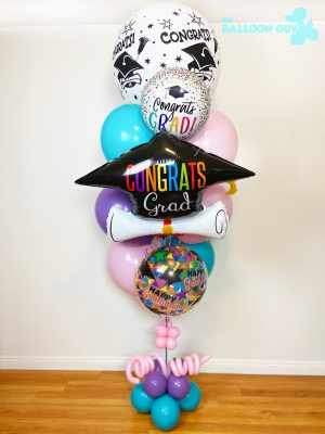 Congrat Grad Balloon Bouquet Pink