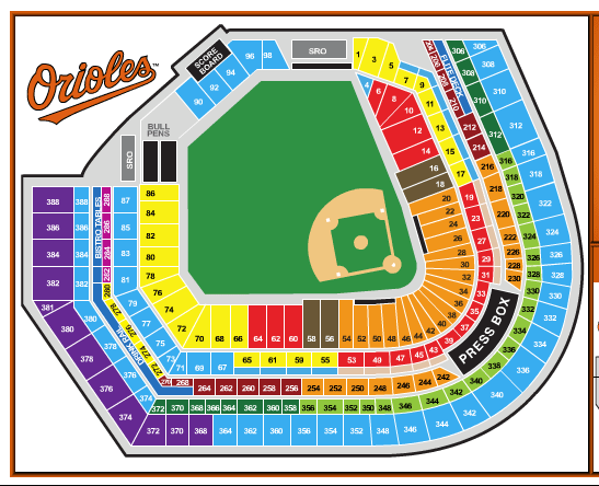 Oriole Park Seating Chart View Brokeasshome Com