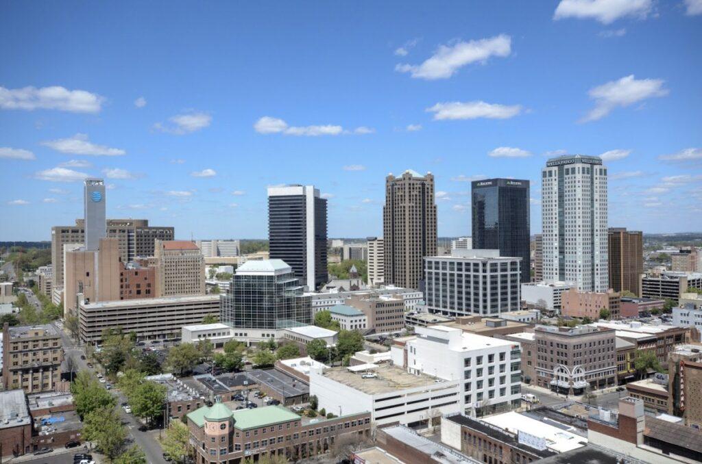 Birmingham Skyline From Tj Tower Jon Eastwood Auburn, Birmingham, Dothan, Enterprise, Florence, Huntsville, Madison, Mobile, Montgomery, Pell City, Slim Chickens, Tuscaloosa