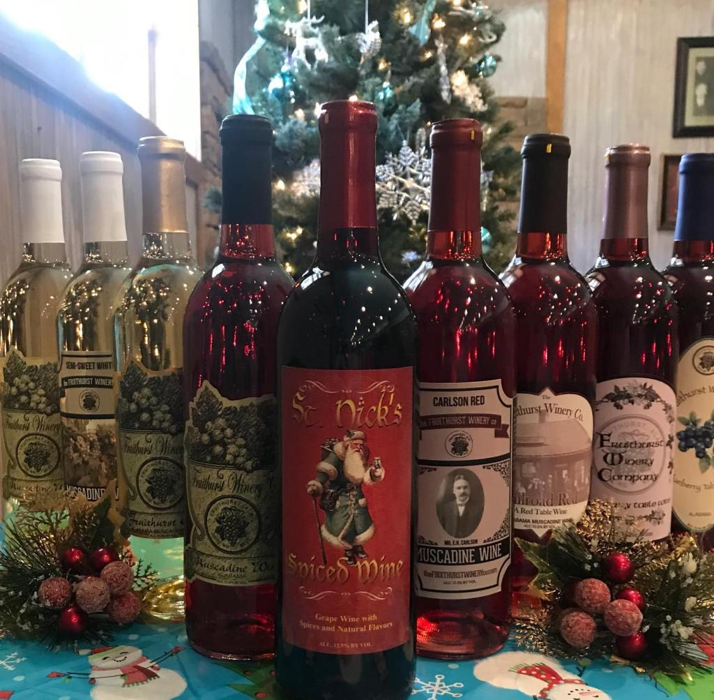 Collection Of Wines From Fruithurst Winery Co