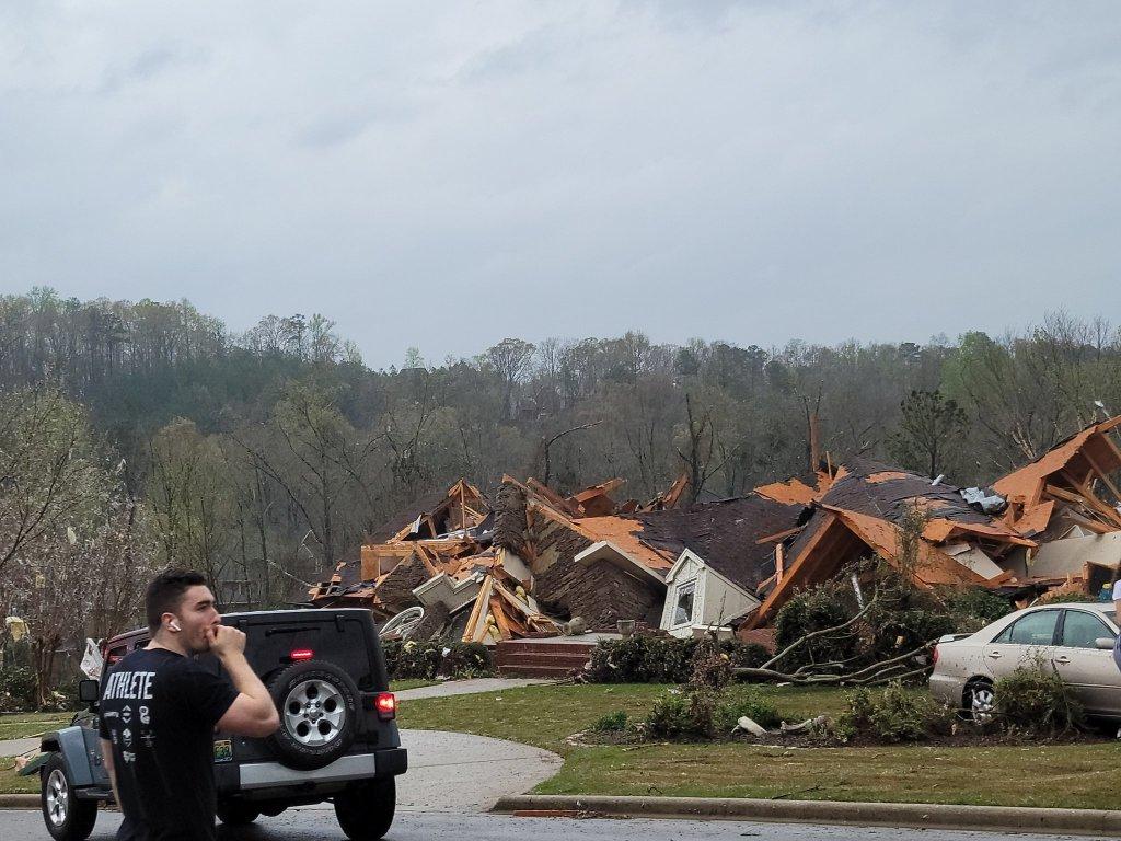 Damage Of Tornados In Alabama Tornado Relief