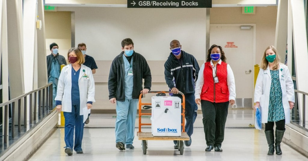 The First Covid Vaccines Arriving At Uab