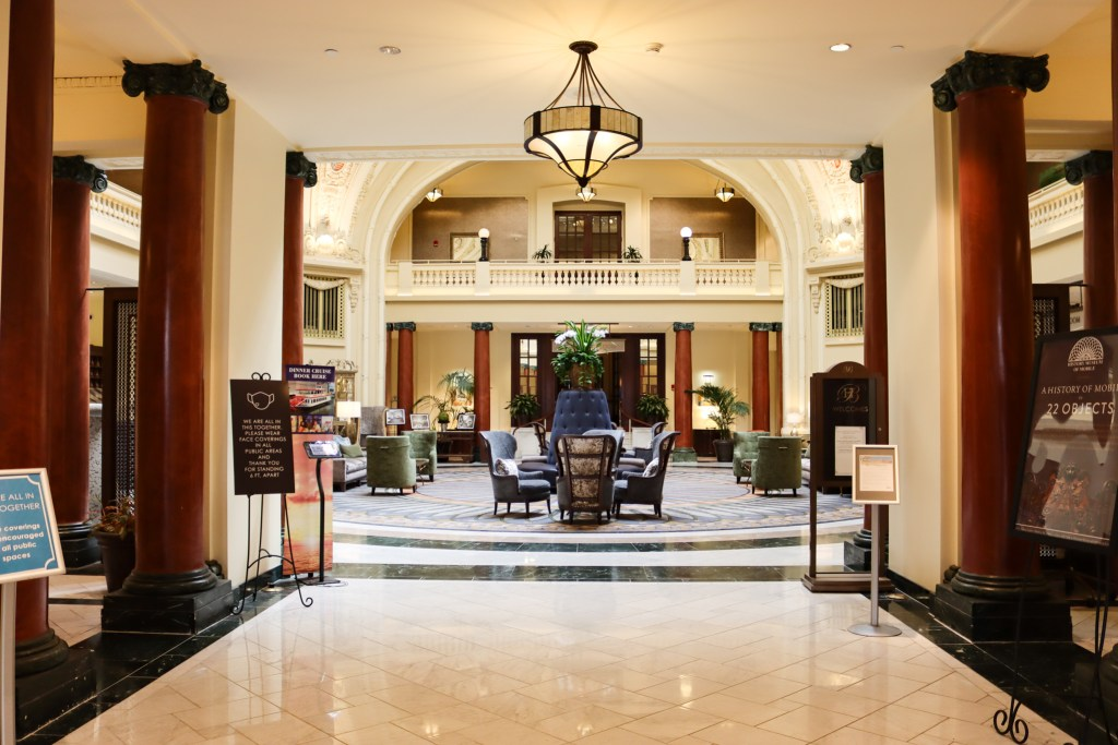 Battle House Hotel Lobby, One Of The Oldest Places In Mobile To Get A Good Night'S Rest.