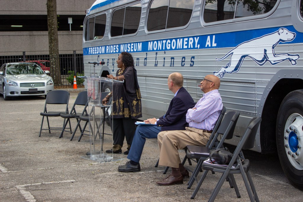 Freedom Rider Dr. Katherine Burkes-Brooks Speaks To The Crowd. Photo By Libby Foster For The Bama Buzz.