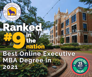 University Of North Alabama - Online Executive Mba Program - Ranked 9Th In Nation