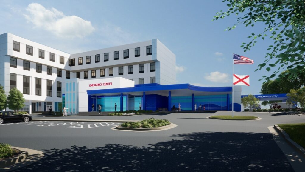 Rendering Of Usa Women's &Amp; Children's Upgraded Facility.