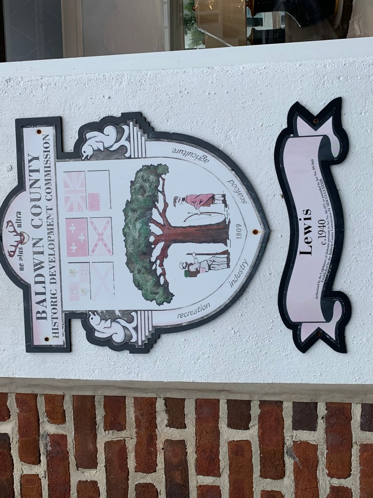 Historic Dedication On A Building In Fairhope