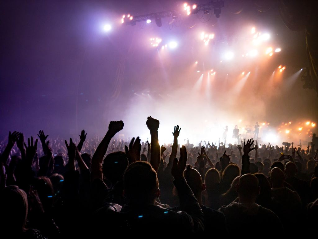 Crowd Facing Lighted Stage