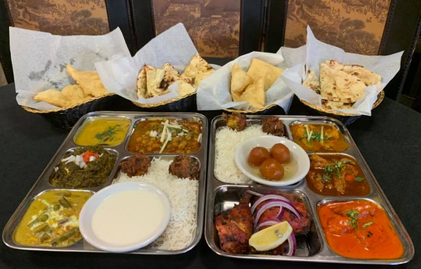 Thali Is Served At Lunchtime At Sitar. Yum! Photo Via Sitar Of India'S Facebook.
