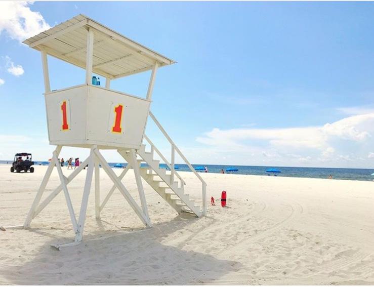 Lifeguard Tower On Orange Beach