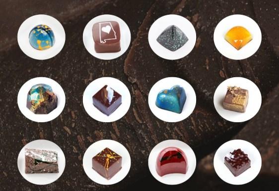 Variety Of Designed Chocolates