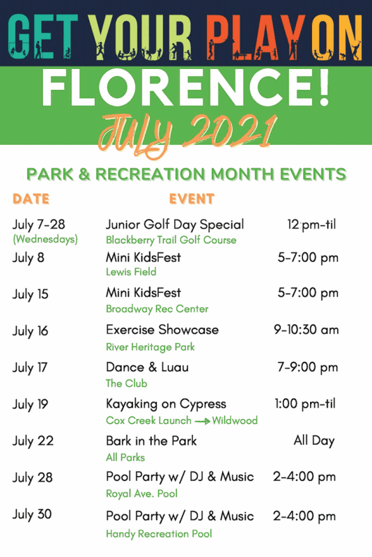 List Of More Summer Events In Florence.